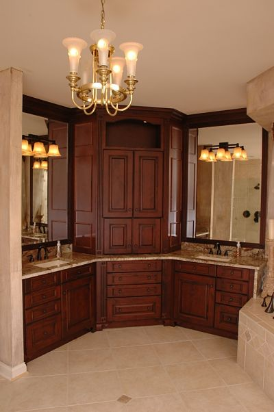 master bathroom with ambient lighting