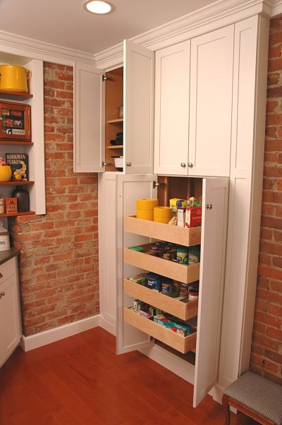 kitchen cabinet with pullout pantry