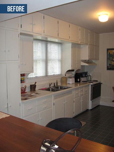galley kitchen before