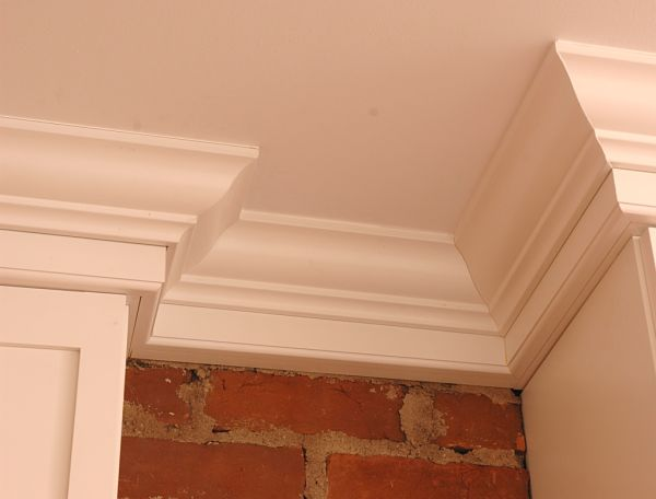 crown molding on brick