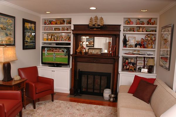 family room cabinets
