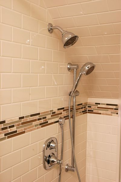 shower with lever handles