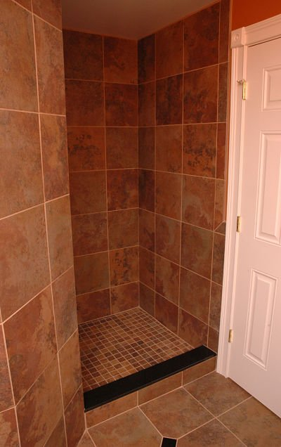 walk-in shower with no door