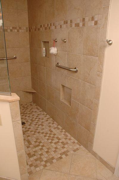 4 design options for walk in showers. Black Bedroom Furniture Sets. Home Design Ideas