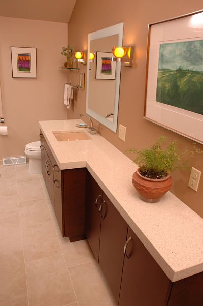 clean lines in bath design