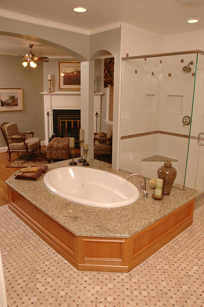 luxurious master bath suite