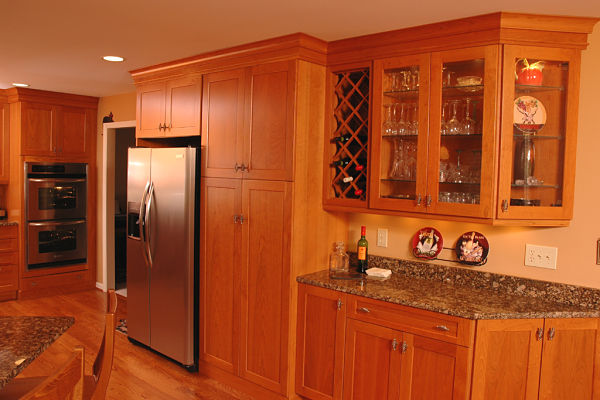 Shaker-style kitchen cabinets