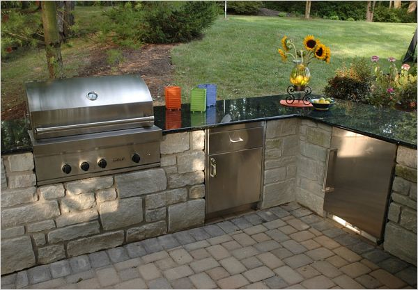 built in outdoor cooking appliances