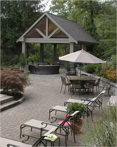 backyard pavilion and patio