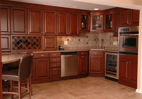 basement kitchen with ample storage