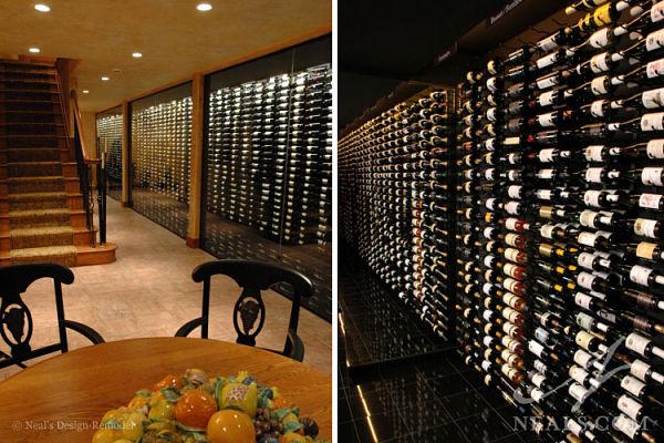 glass wine cellar