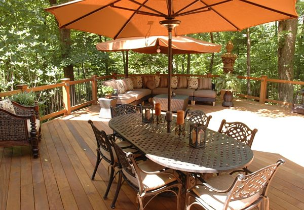 composite deck with woodland view