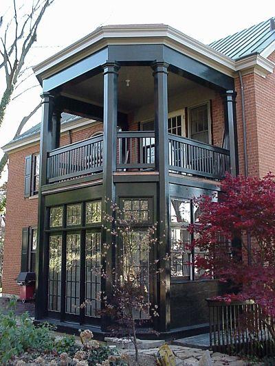 solarium with upper open porch