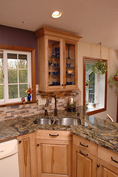 kitchen with dual bowl stainless steel sink