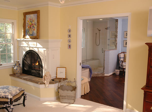 wide entryway to bathroom