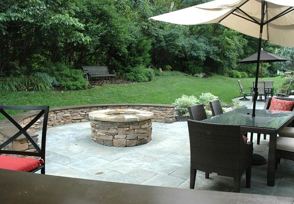 firepit with seating area