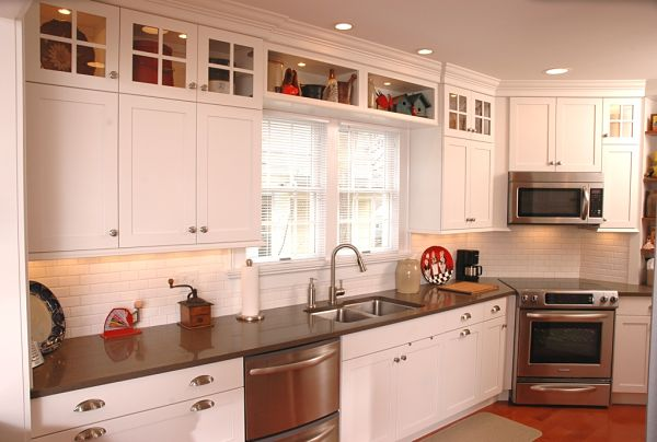 White Kitchen with Above Cabinet Storage & 14 Creative Ideas for Pantry and Kitchen Storage
