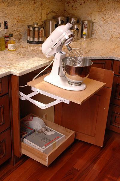 Kitchen Cabinet Storage for Kitchenaid Mixer