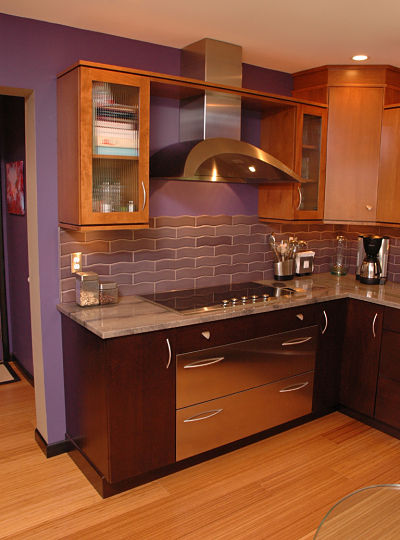 contemporary kitchen with geometric shapes