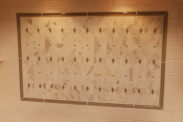Neals showroom kitchen backsplash display