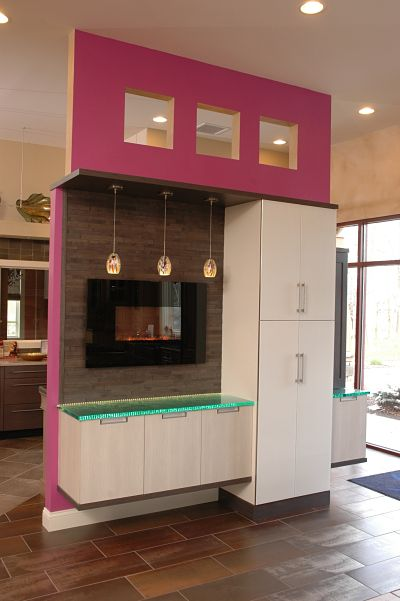 Neals showroom ultra modern cabinet display