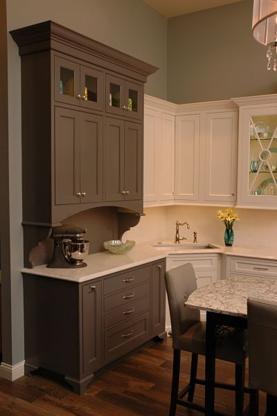 Neals showroom with Woodmode cabinets and Cambria counters