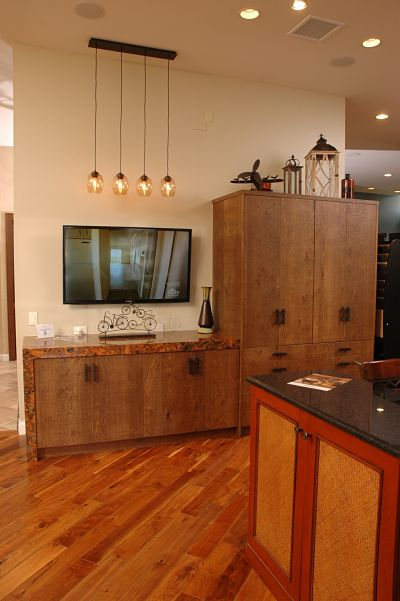 Neals showroom contemporary cabinet display