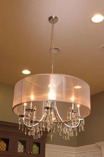 Neals showroom crystal chandelier display