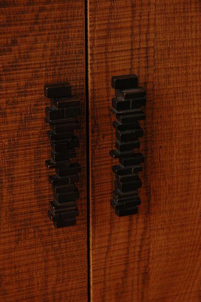 Neals showroom black cabinet pulls