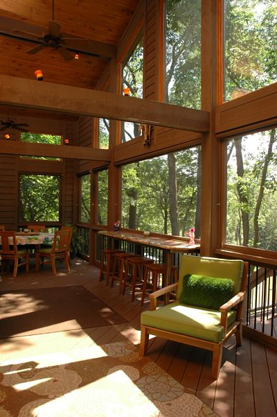 two story porch addition interior