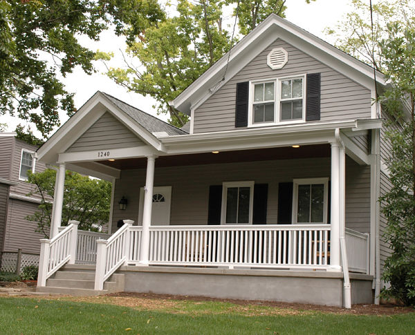American farmhouse front porch