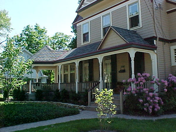 Victorian home front porch