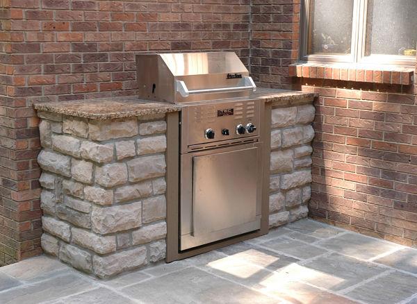 outdoor kitchen barbeque island