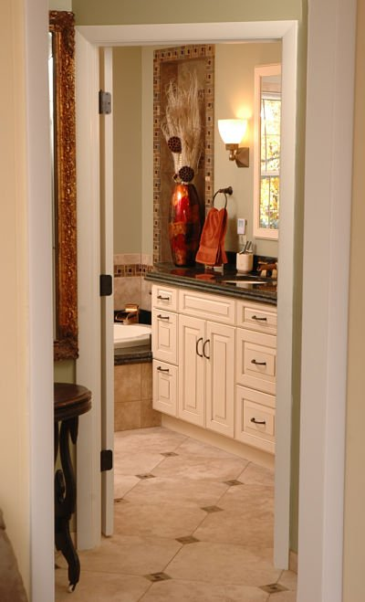 master bath with slip resistant floor