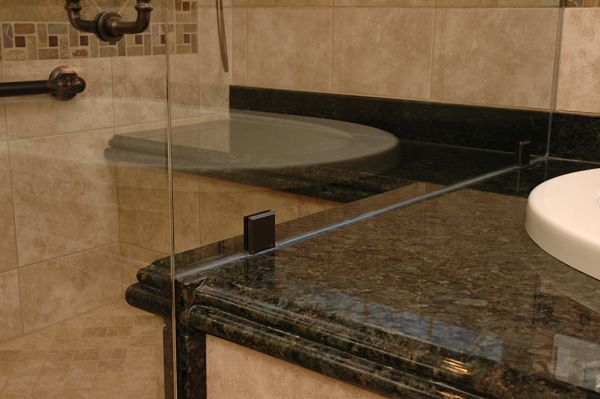 bathroom counter design detail