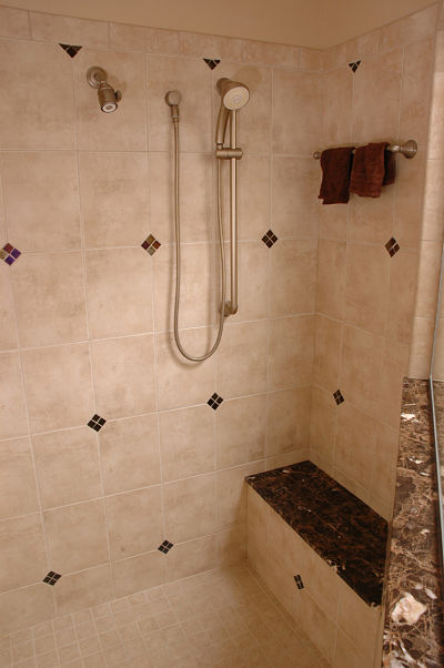 walk in shower tile design