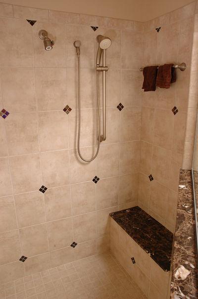 walk in shower tile design