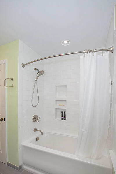 Custom tub and shower combination in a West Chester bathroom remodel.