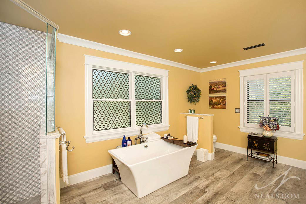 bedroom converted to bathroom in Hyde Park project