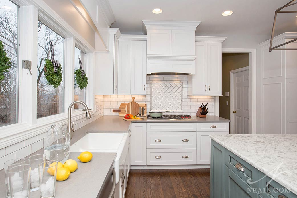 Materials in transitional kitchen