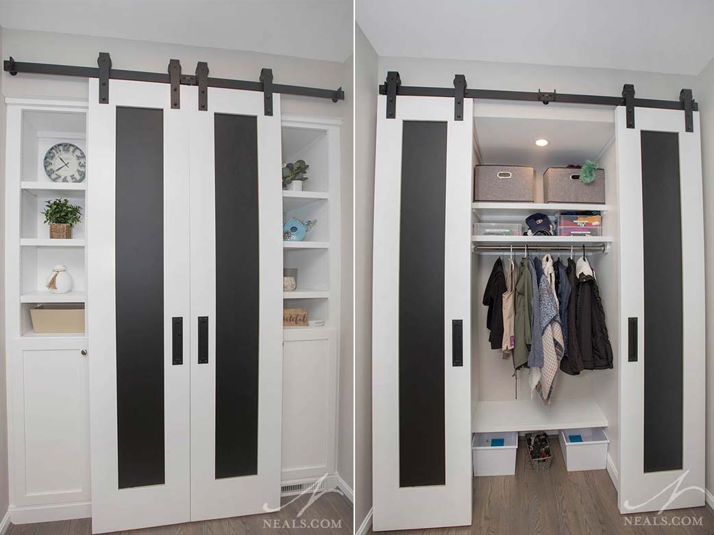 hall closet with barn doors