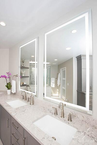 mirror with integrated lighting