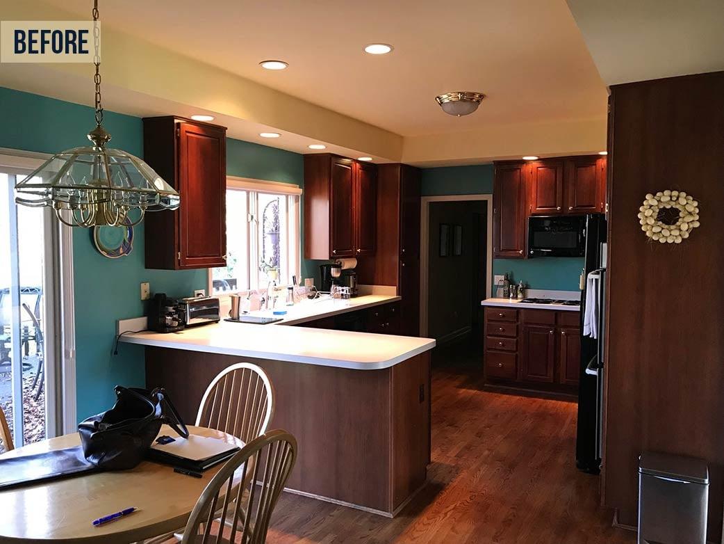 dated dark kitchen