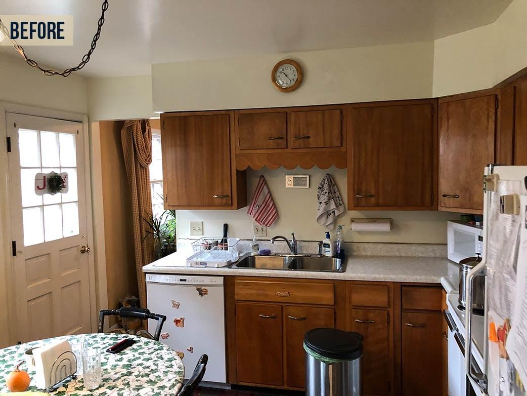 older style small kitchen