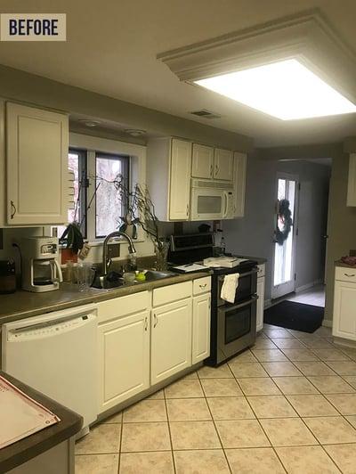 poor quality kitchen lighting