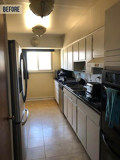 small dated kitchen