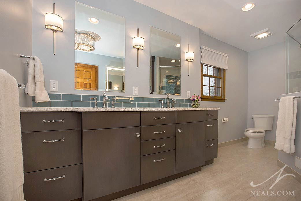 double vanity with two mirrors