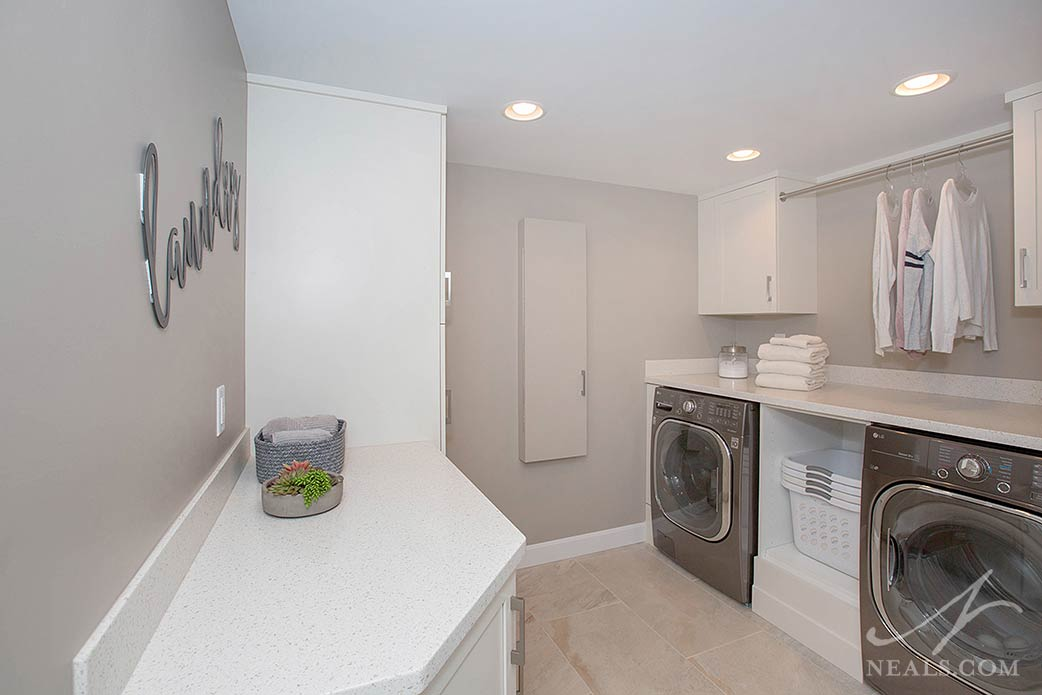laundry in finished basement
