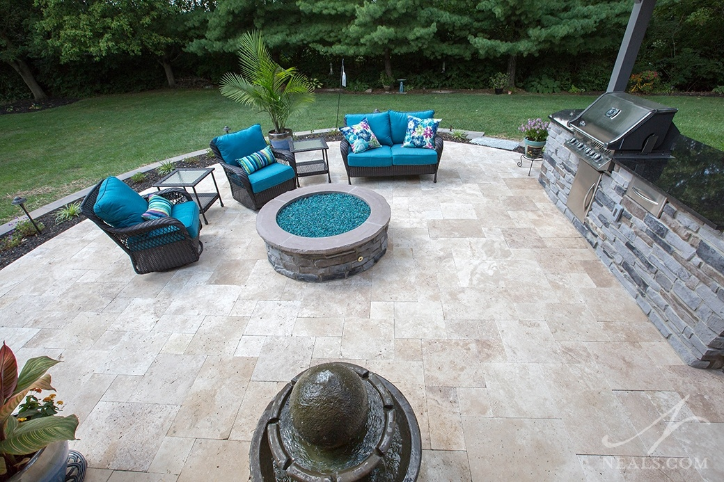 Gas firepit in a West Chester project