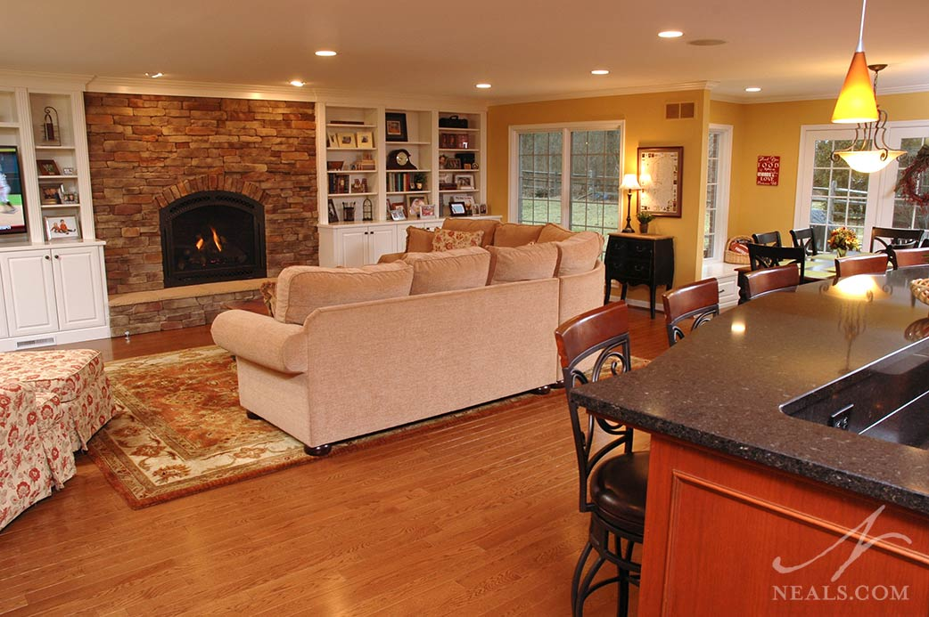 family room in Montgomery addition